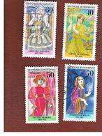 GERMANIA (GERMANY) - SG 1800.1803  - 1976  GERMAN ACTRESSES (COMPLET SET OF 4)   -  USED - Usati