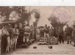 SOUVENIR DE LA GUERRE EUROPEENNE 1914 BOULANGERIE ANGLAISE EN PLEINE CAMPAGNE + TAMPON HOPITAL TEMPORAIRE N°30 - War 1914-18