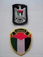 2 VERY RARE POLICE Patches Palestine Palästina - Polizei