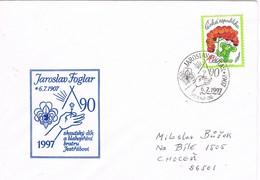 32945. Carta PRAHA (Republica Checa) 1997. JAROSLAV FOGLAR, Scouts, 90 Aniversario - República Checa