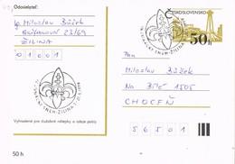 32946. Tarjeta Entero Postal ZILINA (Checoslovaquia) 1990. SCOUTS. IV Junacky - Cartas