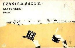 FRANCE - Carte Postale - Illustateur Harnier - France / Russie 1901  - L 30321 - Künstlerkarten