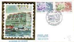 Enveloppe Premier Jour Conseil De L'Europe 21 Novembre 1981 (timbre 1,40 + Timbre 1,60) - Institutions Européennes