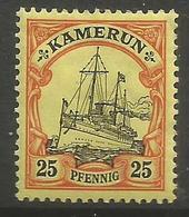 German Cameroun - 1900 Kaiser's Yacht 25pf Mint Hinged *    Sc 11 - Colony: Cameroun