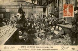 FRANCE - Carte Postale - Grèves Générale Des Chemins De Fer - Gare Saint Lazare - L 30322 - Grèves