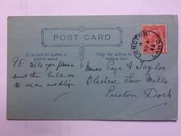 GB 1922 Postcard With Longton Lancashire Postmark - 1902-1951 (Rois)