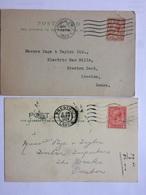 GB GEORGE V Postcards X 2 Commerical - `All Woods, Ltd.` - 1902-1951 (Reyes)