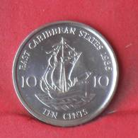 EAST CARIBBEAN 10 CENTS 1986 -    KM# 13 - (Nº28969) - Caribe Oriental (Estados Del)