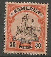 German Cameroun - 1900 Kaiser's Yacht 30pf Mint Hinged *    Sc 12 - Colony: Cameroun