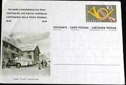 "Schweiz Suisse 1949: Bild-PK ""Autopost - Car Postal Automobile Postale"" Vor FLÜELA HOSPIZ (ungebraucht - Non Circulé) - Interi Postali"