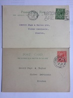 GB GEORGE V Postcards X 2 Commerical - `L. Ferguson,Workington` - `T. Fletcher, Rochdale` - Lettres & Documents