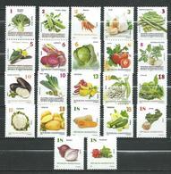 Macedonia 2013/2014/2015/2016/2017/2019.Vegetables.Flora Full Serial. **MNH - Macedonia