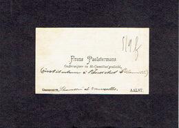 AALST 1896  OUDE VISITEKAARTJE - Frans PAELSTERMANS - Onderwijzer In St-Camillus'gesticht - Cartes De Visite