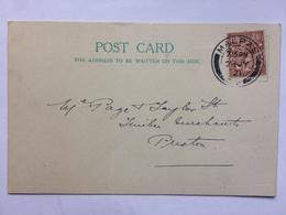 GB GEORGE V Postcard 1921 Malpas Cheshire Postmark - Commercial: `G.T. Huxley` - 1902-1951 (Rois)