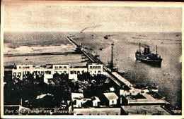 3409)  Cartolina Di Port Said - Casino E Breakwater - Viaggiata Il 10/04/1937 - Port Said