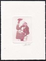 "BELGIUM (1989) ""Mr. Nibbs."" Die Proof In Brown Signed By The Engraver, FDC Cachet, Scott No 1328. - Proeven & Herdruk"