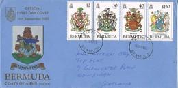 32948. Carta WARWICK (Bermuda) 1985. Coats Of Arms. Escudos - Bermudas