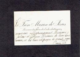 AALST 1896  OUDE VISITEKAARTJE - Le Frère Marien De Jésus - Procureur Des Frères Des Ecoles Chrétiennes - Cartes De Visite