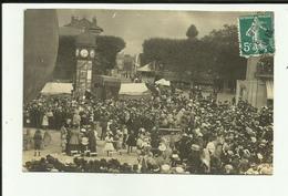 27 - Eure - Vernon - Carte Photo - Foire - Fete - Charlatan ?? Belle Animation - - Vernon