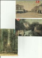27 - Eure - Gisors - Lot De 3 Cartes Toilées - Couleurs - Av. De La Gare - Rue Du Filoir - Pont Des Soupirs - - Gisors