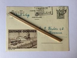 OSTENDE -DOUVRES »carte Publicitaire «Publibel Nº 1341 (1955). - Publicité