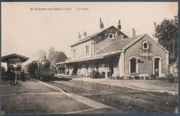 Saint Florent Sur Cher , Train En Gare , Animée - Saint-Florent-sur-Cher