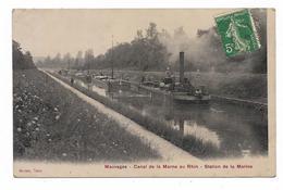 CPA 55 MAUVAGES Canal De La Marne Au Rhin Station De La Marine - France