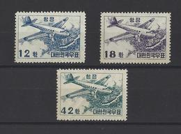 COREE DU SUD.  YT PA  N° 9/11  Neuf **  1953  (voir Scan) - Corée Du Sud
