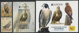 "MACEDONIA /NORTH-MACEDONIA /MAKEDONIEN -EUROPA 2019 -NATIONAL BIRDS.-""AVES -BIRDS -VÖGEL-OISEAUX""-SERIE + BF + CARNET - 2019"