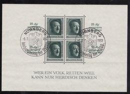 BLOCK FEUILLET N°9 OBLITERE  NURNBERG LE 6-9-1937 - Deutschland