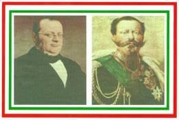 [DC1469] CARTOLINEA - 150 ANNI DELL'UNITA' D'ITALIA - CAMILLO BENSO CONTE  DI CAVOUR E VITTORIO EMANUELE II - Eventi