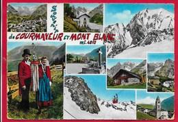 CARTOLINA VG ITALIA - Souvenir Di COURMAYEUR E Monte Bianco - 10 X 15 - ANN. 1965 - Altre Città