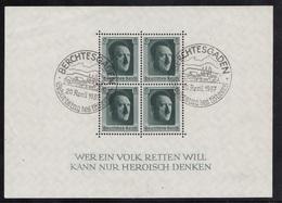 BLOCK FEUILLET N°7 OBLITERE  BERCHTESGADEN 20 AVRIL 1937 - Deutschland