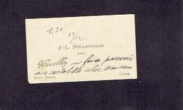 CANNE (Limburg) 1900-1910 OUDE VISITEKAARTJE - J.- L. STRAETMANS - Abbé - Cartes De Visite