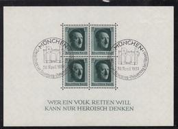 BLOCK FEUILLET N°7 OBLITERE  MUNCHEN 20AVRIL 1937 - Deutschland