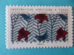 TIMBRE  AUTOADHESIF : No:1660a  INSPIRATION AFRICAINE Venant De Feuille , Support Blanc XX - Autoadesivi