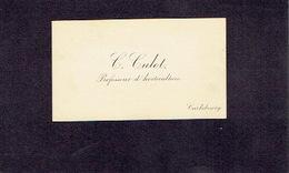 CARLSBOURG 1900-1910 ANCIENNE CARTE DE VISITE - C. CULOT - Professeur D'horticulture - Cartes De Visite