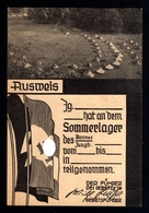 14282-GERMAN EMPIRE-MILITARY PROPAGANDA POSTCARD SHEET German Youth Camp.WWII.DEUTSCHES REICH.POSTKARTE.Carte Postale - Lettres & Documents