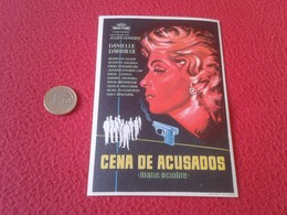 SPAIN ANTIGUO PROGRAMA DE CINE FOLLETO MANO OLD CINEMA PROGRAM PROGRAMME FILM PELÍCULA CENA ACUSADOS MARIE OCTOBRE VER F - Publicidad