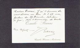 CEREXHE-HEUSEUX (MICHEROUX) 1900-1910 ANCIENNE CARTE DE VISITE - Emile BARAS - Curé - Cartes De Visite