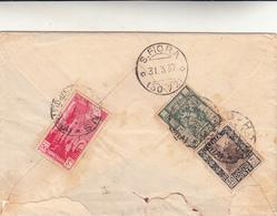 Homs, Tripolitania Per S. Fiora Grosseto. Cover 27 - 03 - 1937 - Tripolitania