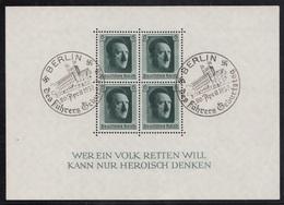 BLOCK FEUILLET N°7 OBLITERE  BERLIN 20 AVRIL 1937 - Deutschland