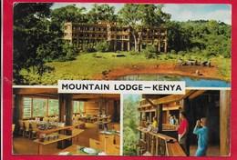 CARTOLINA VG KENIA - Mountain Lodge - Mount Kenya - 10 X 15 - ANN. 1978 - Kenia