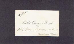 CHAPON-SERAING (VERLAINE) 1900-1910 ANCIENNE CARTE DE VISITE - L'Abbé Etienne BERGER - Curé - Cartes De Visite