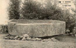 87. CPA. BESSINES. La Pierre Belle.  Vasque En Granit Déplacée De Lavaugrasse.  1918. - Bessines Sur Gartempe