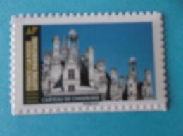 TIMBRE  AUTOADHESIF  No: 1674a ,  CHATEAU De CHAMBORD  Venant De Feuille , Support Blanc XX - Sellos Autoadhesivos