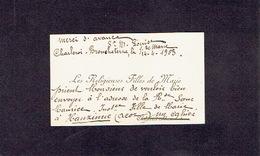 CHARLEROI-BROUCHETERRE 1903 ANCIENNE CARTE DE VISITE - LES RELIGIEUSES FILLES DE MARIE - Cartes De Visite