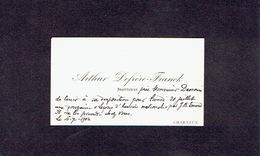 CHARNEUX 1902 ANCIENNE CARTE DE VISITE - Arthur DEFRERE-FRANCK - Instituteur - Cartes De Visite