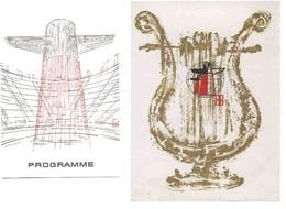Em2.k- Ens.de 2 Porte-programmes Paquebot FRANCE  Cheminée Cie Gle Transatlantique French Line - Unclassified