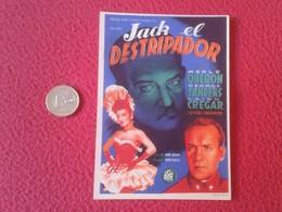 SPAIN ANTIGUO PROGRAMA DE CINE FOLLETO MANO OLD CINEMA PROGRAM PROGRAMME FILM PELÍCULA JACK EL DESTRIPADOR THE RIPPER - Publicidad
